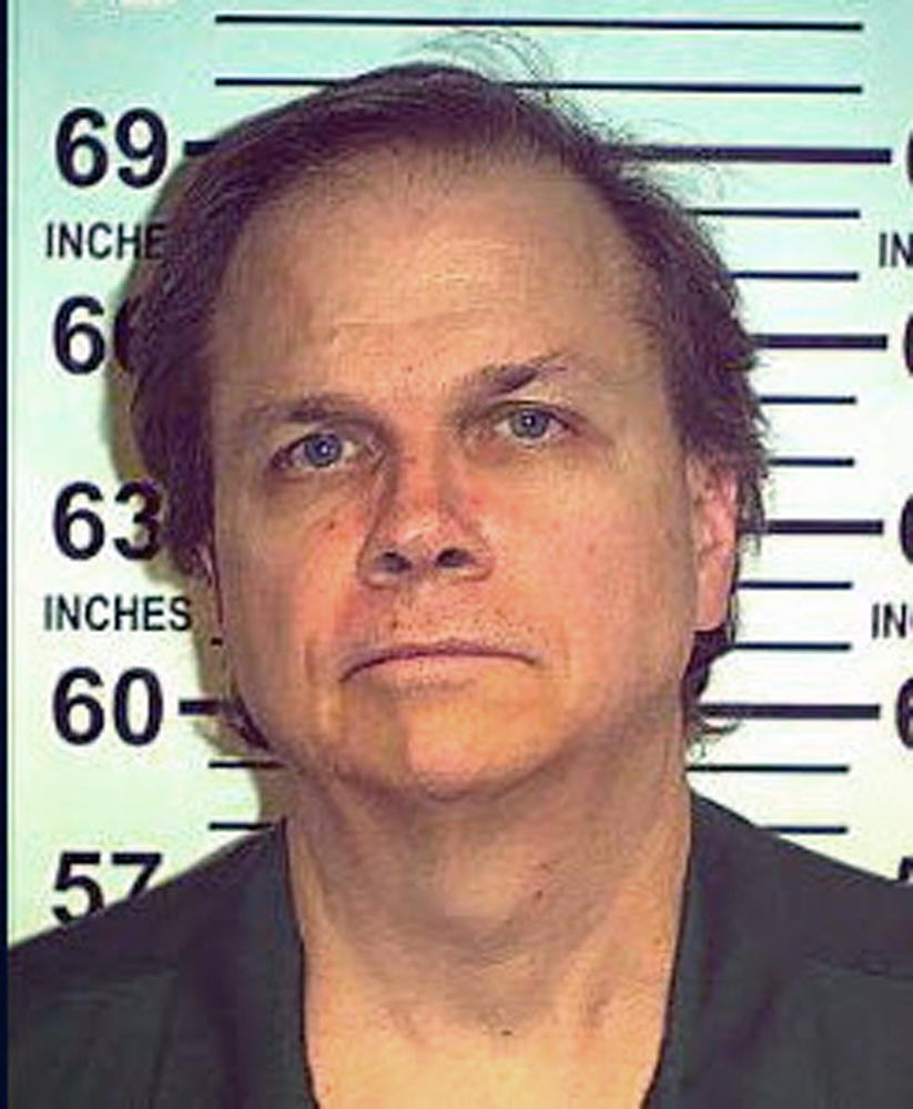 Mark David Chapman is seen in this handout photo taken May 15, 2012 from the New York State Department of Corrections and released to Reuters August 23, 2012. Chapman has been denied parole for the 7th time for the killing of ex-Beatle John Lennon in 1980. REUTERS/NYS Department of Corrections/Handout (UNITED STATES - Tags: CRIME LAW) THIS IMAGE HAS BEEN SUPPLIED BY A THIRD PARTY. IT IS DISTRIBUTED, EXACTLY AS RECEIVED BY REUTERS, AS A SERVICE TO CLIENTS. FOR EDITORIAL USE ONLY. NOT FOR SALE FOR MARKETING OR ADVERTISING CAMPAIGNS