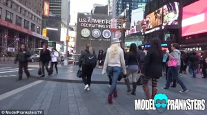 Even in Times Square, no one gave a second look