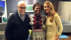 Celine , ABC News reporter Deborah Roberts  and René Angél.i photo: Dailymaill
