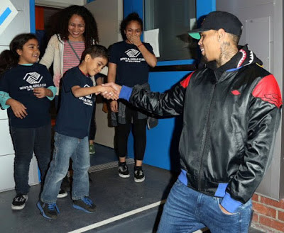 Chris Brown and Jessica' family