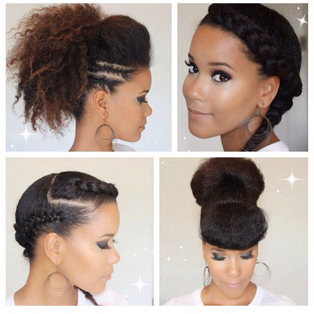 Hair Inspiration Glam Up Your Natural Hair With These Easy To Do - Diy natural hairstyle