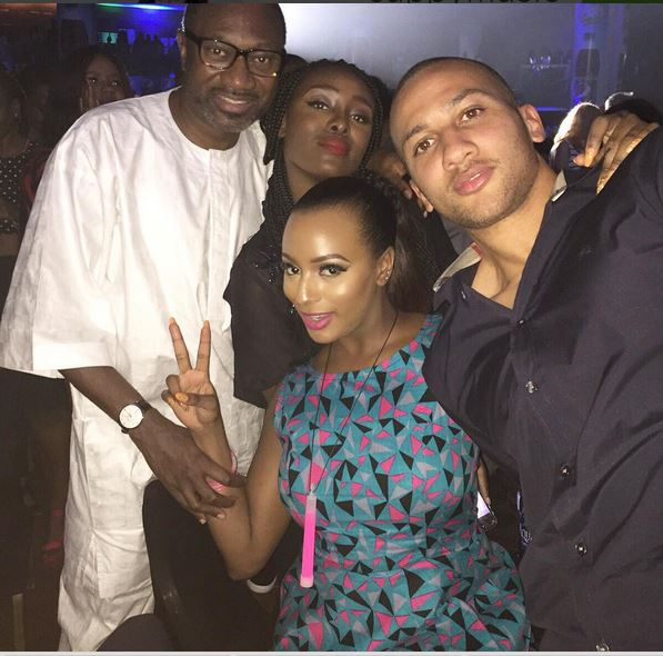 Dj Cuppy  and family