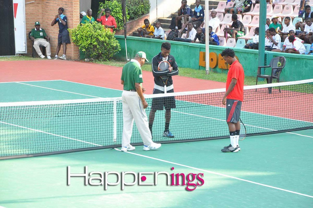 Moses Michael and Duncan Mugabe gearing up for the finals of the Men's Singles
