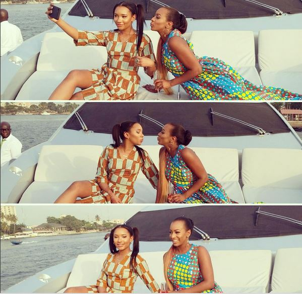 Dj Cuppy and sister
