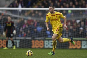 Liverpool's Rickie Lambert during the Premier League match against Crystal Palace at Selhurst Park on November 23, 2014 (AFP) photo: Adrian Dennis