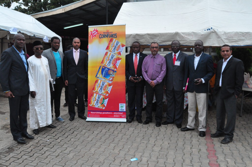 NSN Vice President Mr Sam Yuwa (3rd from right) poses with NASCO Group delegation to 2015 NSN Scientific Conference Eko 2015