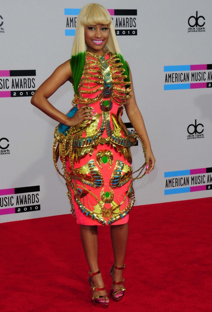 -Los Angeles, CA - 11/21/2010 - The 2010 American Music Awards held at the Nokia Theatre L.A. Live. -PICTURED: Nicki Minaj -PHOTO by: Kyle Rover/startraksphoto.com -KRLv57750