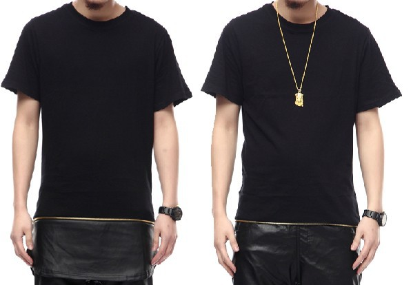 Pu-cotton-Dress-HipHop-chris-font-b-brown-b-font-oversized-Gold-zipper-T-font-b