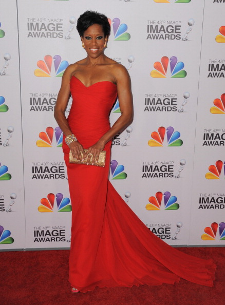 LOS ANGELES, CA - FEBRUARY 17: Actress Regina King arrives at the 43rd Annual NAACP Awards at The Shrine Auditorium on February 17, 2012 in Los Angeles, California. (Photo by Jordan Strauss/WireImage)