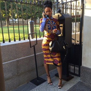 Rihanna has fun at the White House