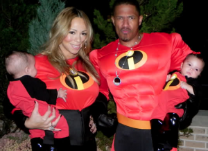 Nick Cannon, Mariah Carey with their twins