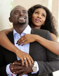 Blessing Okagbare  and her husband