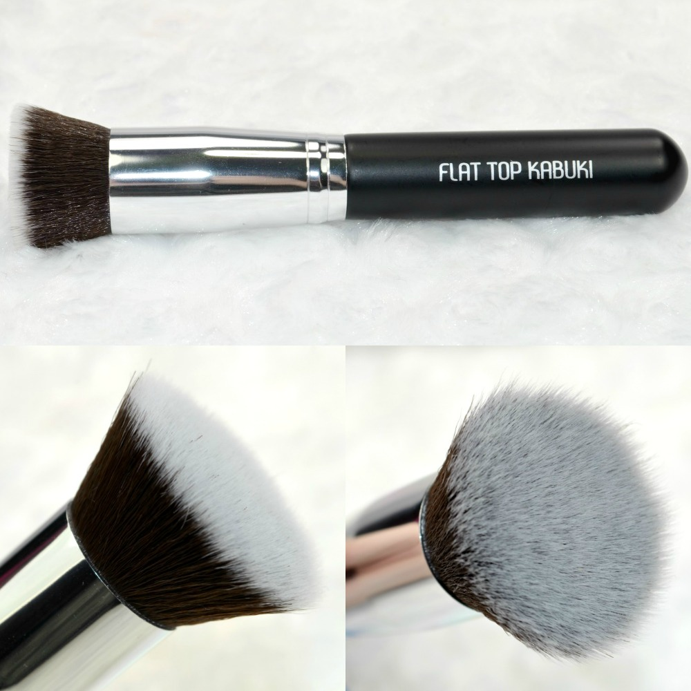 brusKeshima Makeup Brush Gift Set, Stippling Brush and Flat Top Kabuki Brush (7)