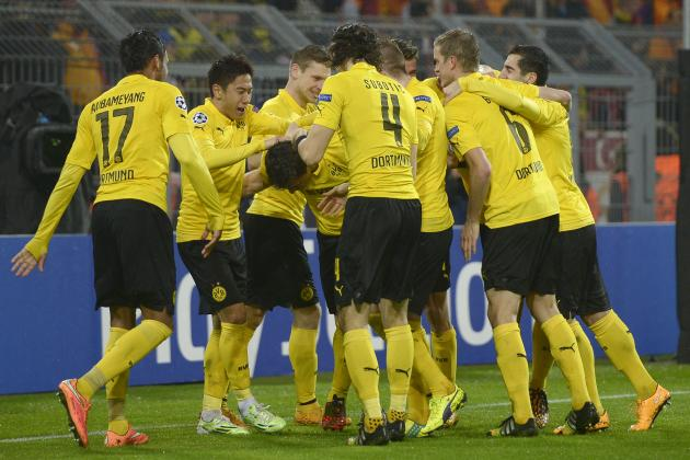 Borussia Dortmund easily defeated Galatasaray 4-1 during Tuesday's Champions League action