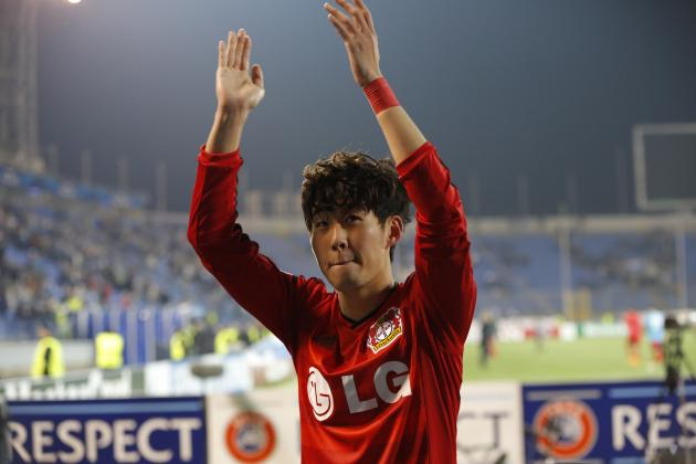 Son Heung-Min scored both his side's goals at Petrovsky Stadium