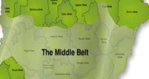 Map of the Middle Belt region