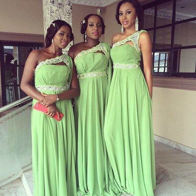 Nigeria Style Bridesmaid Dresses 2015 New