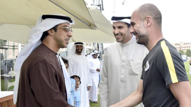 Manchester City owner and Pep Guardiola