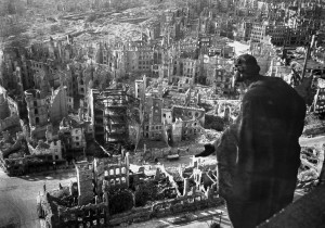 A photo taken from Dresden's townhall of the destroyed old town of the historic city after the allied bombings in February 1945 Slub Dresden Deutsche Fotothek (AFP) photo: Walter Hahn
